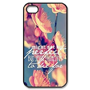 Bible Verse Custom Cover Case for Iphone 4,4S,diy phone case ygtg620496