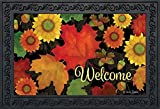 Fall Foliage Welcome Doormat Autumn Leaves Indoor Outdoor 18'' x 30''
