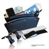 #5: Ordenado Lifestyles- Car Pocket Organizer and Seat Gap Filler - Car Interior Accessories (Bonus 2 Headrest Hooks, 2 Large Velcro)- Black, Set Of 2