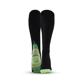 Essentials - Calcetines para Hombre y Mujer, Negro y Verde: Amazon.es: Deportes y aire libre
