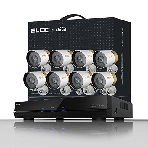 ELEC 8CH Channel 960H HDMI HDMI DVR Surveillance Security Cameras ...