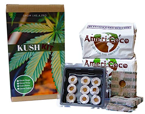 Kush Kit: Indoor Grow Kit for Hemp, Herbs and Medicinal Crops - DIY Grow Kit - Just add Your Desired Seeds (Seeds are not Included), Fertilizer and You Will be Growing Like a pro!