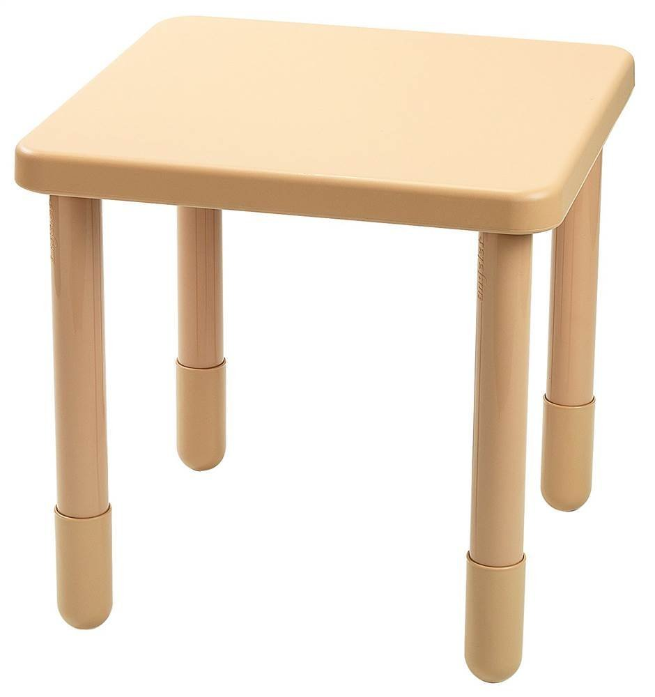 Angeles 28 in. Square Kids Table in Natural Tan