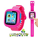 """Kids Game Watch Smart Watch For Kids Children's Birthday Gift With 1.5 """" Touch Screen And 10 Games, Children's Watch Pedometer Clock Smart Watch Kids Toys Boys Girls gift.(Pink)"""