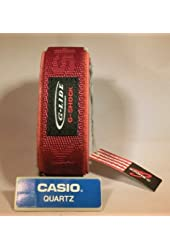 Original Casio G-shock Glide Burgundy Red Velcro Nylon Replacement Watch Band 23-24mm Dw 003 or Any Dw Gshock Watch Dw-003-9v
