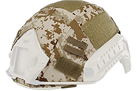 haoyk al aire libre militares camuflaje táctico para Airsoft y Paintball Gear combate rápido casco cubierta, Woodland