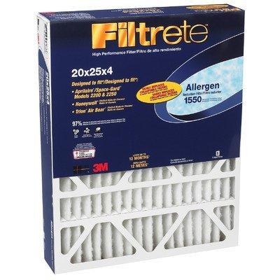 "3M DP03DC-4 20"" X 25"" X 4"" Allergen Reduction Filters 1550"