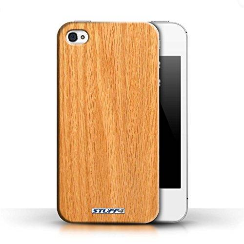 Kobalt® protector duro de nuevo caso / cubierta para el Apple iPhone 4/4S | Pino Diseño | Efecto de grano de madera/patrón colección