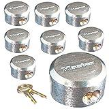 Master Lock Pro Series Hidden Shackle Padlocks, Keyed Alike 6271NKA-8 w/BumpStop Technology