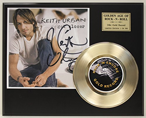 Keith Urban Gold Record Signature Series LTD Edition Display from Gold Record Outlet