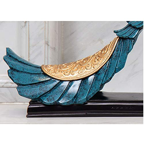 Home Decoration, Hand-Painted Resin Crafts Peacock Ornaments Sculpture Living Room Decorations Nordic Decorative Wine Cabinet Home (Color : 5) by None (Image #5)
