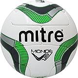 Mitre Monde V12S Soccer Ball, Size 5, Green