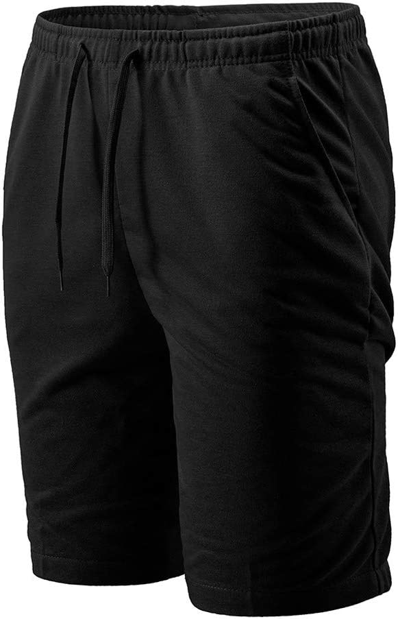 Karinao Herren Shorts Fitness Sporthose Gym Baumwolle Bequem Atmungsaktiv Runnings Funktionsshorts L,Blau