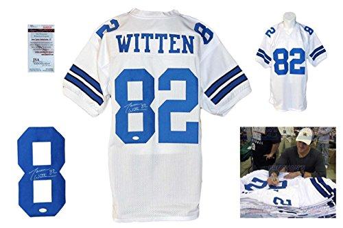 Signed Jason Witten Jersey - Witnessed White - JSA Certified - Autographed NFL Jerseys (Jason Witten Jerseys)
