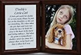 5x7 Hinged DADDY'S LITTLE GIRL Picture & Poem Photo Frame ~ Father's Day (WALNUT)