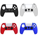 4 Pack Anti-Slip Silicone Skin Case Cover for Sony Playstation 5 PS5 DualSense Controller