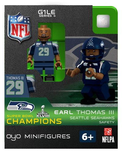 2013 Earl Thomas III Super Bowl XLVIII 48 Champions Oyo Mini Figure Lego Compatible Seattle Seahawks production limitée