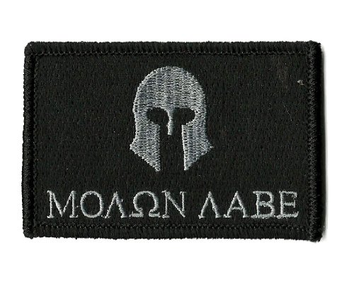 Molon Labe Tactical Patch - Black by Gadsden and Culpeper