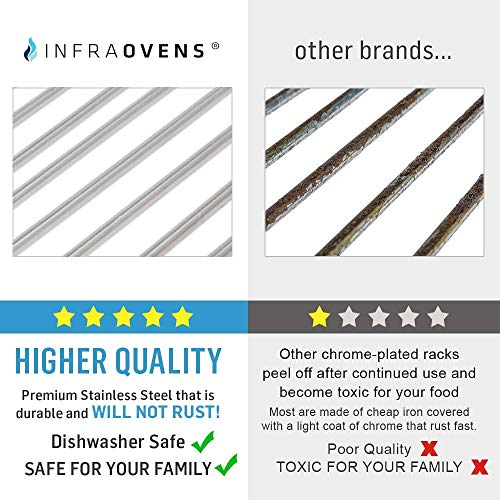 Air Fryer Stainless Steel Rack Accessories Compatible With