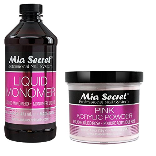 Mia Secret Liquid Monomer (4/8/16/32 oz) And Acrylic Powder (2/4/8 oz) Sets by