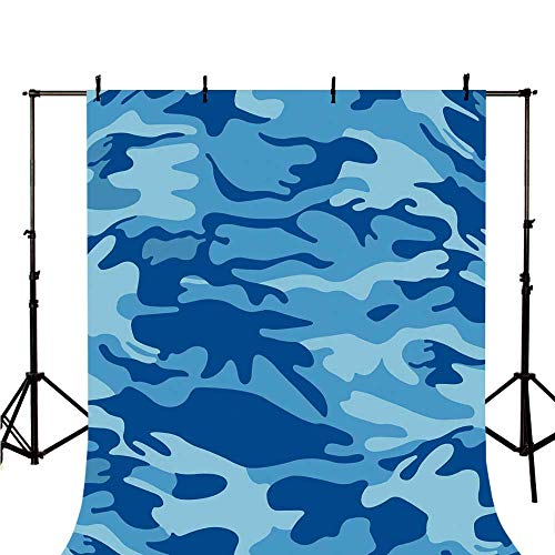 Camouflage Stylish Backdrop,Abstract Camo Navy Military Costume Concealment from The Enemy Hiding for Photography,70.8