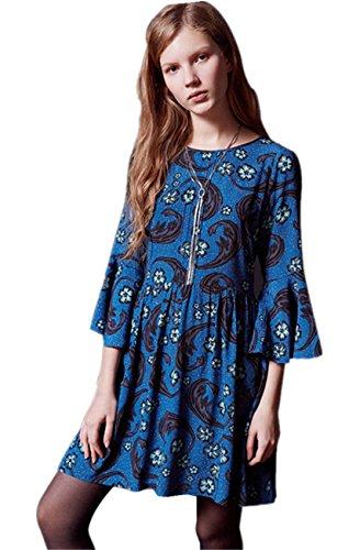 Buy bell sleeved boho mini dress - 5