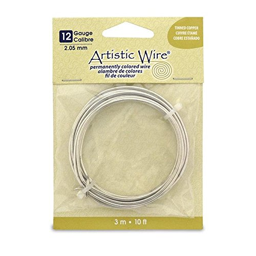 Artistic Wire 12-Gauge Tinned Copper Coil Wire, - Wire Copper Colored Permanent