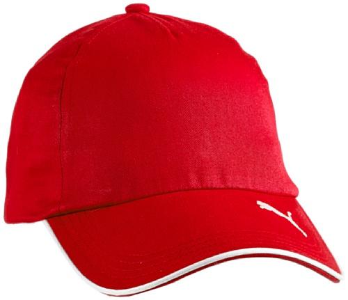 PUMA Cap, Red/White, OSFA, 653832 01