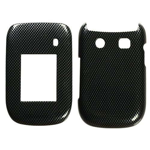 Hard Plastic Snap on Cover Fits Rim BlackBerry 9670 Style Carbon Fiber (Rim Hard Faceplates)