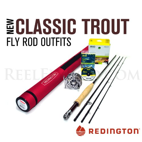 Redington Classic Trout 586-4 Fly Rod Outfit (8'6'', 5wt, 4pc) by Redington