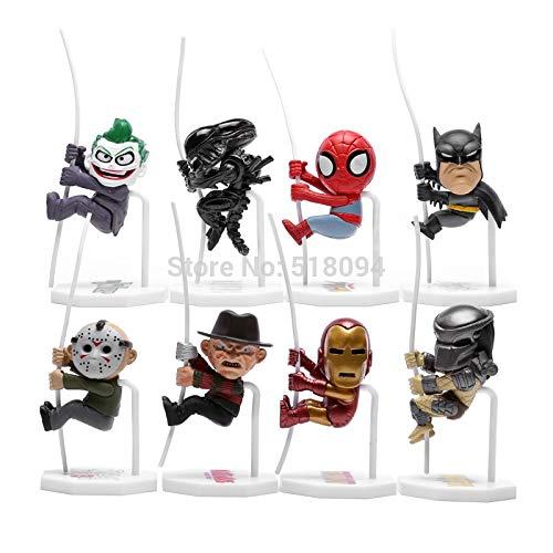HOLLUK Super Q Version Man Alien S Dy Jason PVC Action Figure Toys Dolls 8Pcs/Set Hrfg282 -Multicolor Complete Series Merchandise]()
