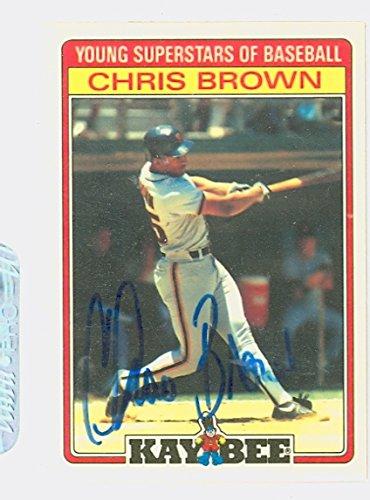 Chris Brown AUTOGRAPH d.06 Kay-Bee San Francisco Giants
