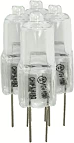 Westinghouse 06308 10T3 G4 Base 12-Volt 10-Watt Halogen Bulbs Pack of
