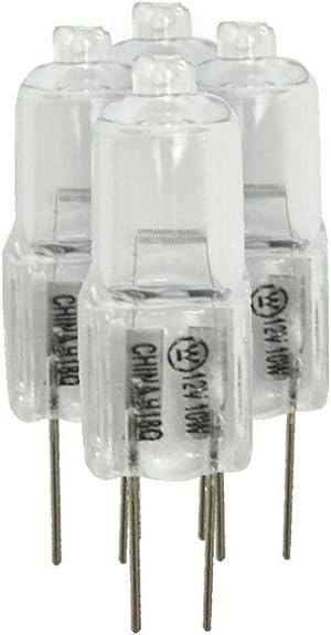 Westinghouse 06308 10T3 G4 Base 12-Volt 10-Watt Halogen Bulbs Pack of 4