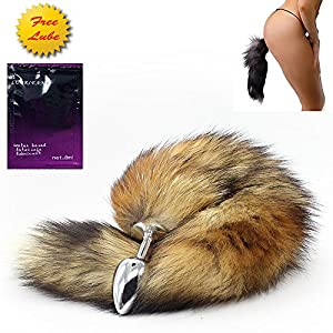 Love Fire QM Small Stainless Steel Fox's Tail's AnAl-Butt-Plug,AnAl Tail Sex Toys, Sexual Show,SM Special Butt-Plug AnAl Stimulator Suppositories