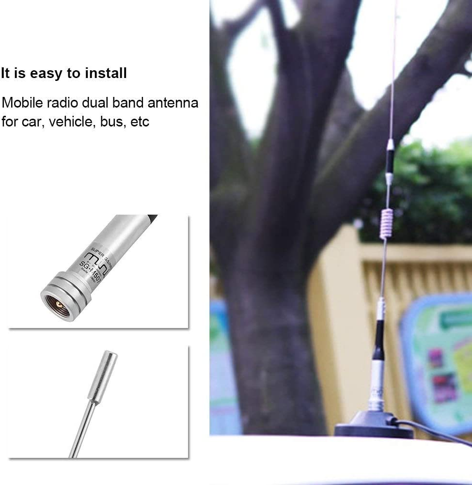 UHF 144//430Mhz 73cm Antenne radio mobile Pour Voiture Antenne Double Bande VHF