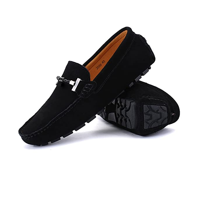 Amazon.com: MUMUWU Mens Driving Loafers Handwork Suture Suede Genuine Leather Penny Boat Moccasins Up to Size 11 MUS Dress Shoes: Clothing