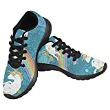 InterestPrint Women's Jogging Running Sneaker Lightweight Go Easy Walking Casual Comfort Sports Running Shoes Size 11 Cute Baby Unicorns