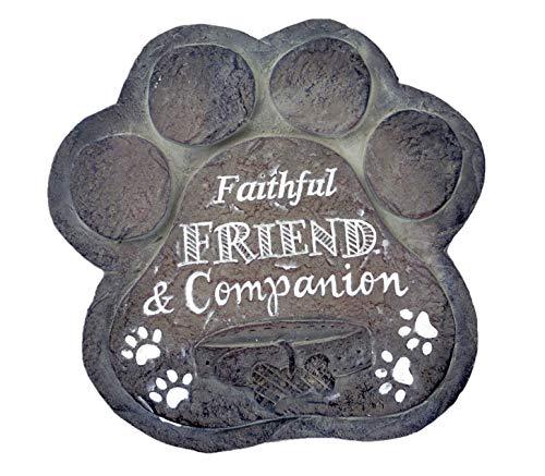 Gerson Faithful Friend & Companion Dog Paw Pet Memorial Stone ()