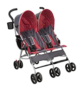 Delta Children City Street LX Side by Side Stroller, Grey