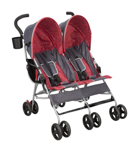City Street Side by Side Stroller, Grey