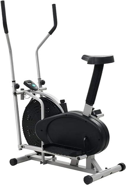 VidaXL 91453 elíptica Negro, Plata - Cross trainer (110 kg, Hogar ...