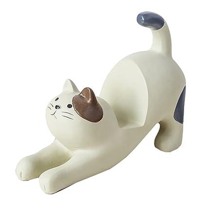 Forma de Gato Resina Teléfono Móvil Soporte, soporte para teléfono accesorios para