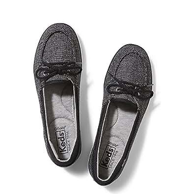 Keds Women's Glimmer Salt and Pepper Fashion Sneaker,Black,5.5 M US