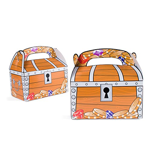 Pirates Theme Party (Treasure Chest Goodie Treat Boxes Pirate Birthday Theme Loot Favor Box By Super Z Outlet)