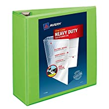 """Avery Heavy-Duty View Binder with 4"""" One Touch EZD Rings, Chartreuse (79812)"""