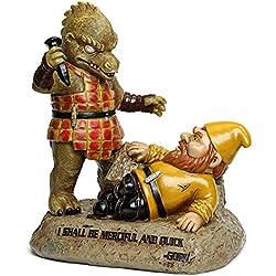 BigMouth Inc Ofically Licensed Star Trek Gorn Gnome Statue, Funny Lawn Gnome Statue, Star Trek Gnome Garden Decoration