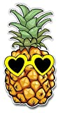 Pineapple Sticker With Heart Sunglasses for Laptop Computer Car Truck Window Decal