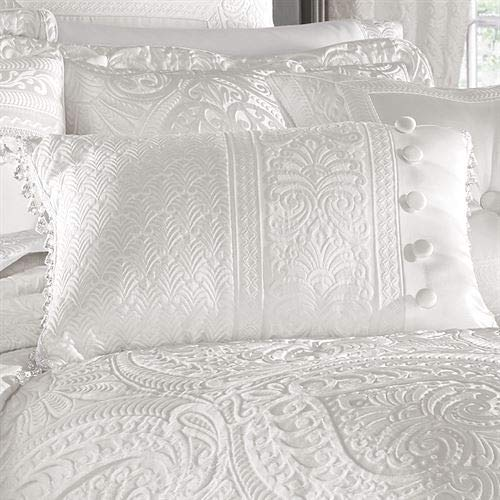 J Queen New York, Inc. Bianco Tailored Pillow White Rectangle
