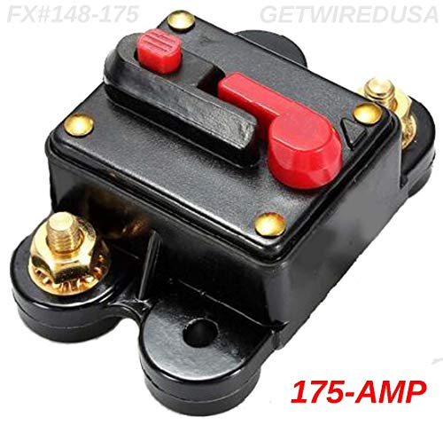 - 175-AMP Circuit Breaker Waterproof Inline Fuse Manual Reset 12-Volt DC Automotive Or Marine 175A